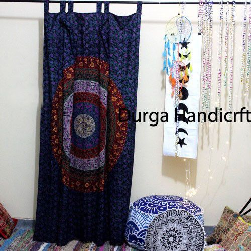 Indian Mandala Throw Wall Hanging Cotton Curtain Tapestry Hippie Tapestry Decor  #Handmade #Traditional #CurtainWindowHangingDoorHanging