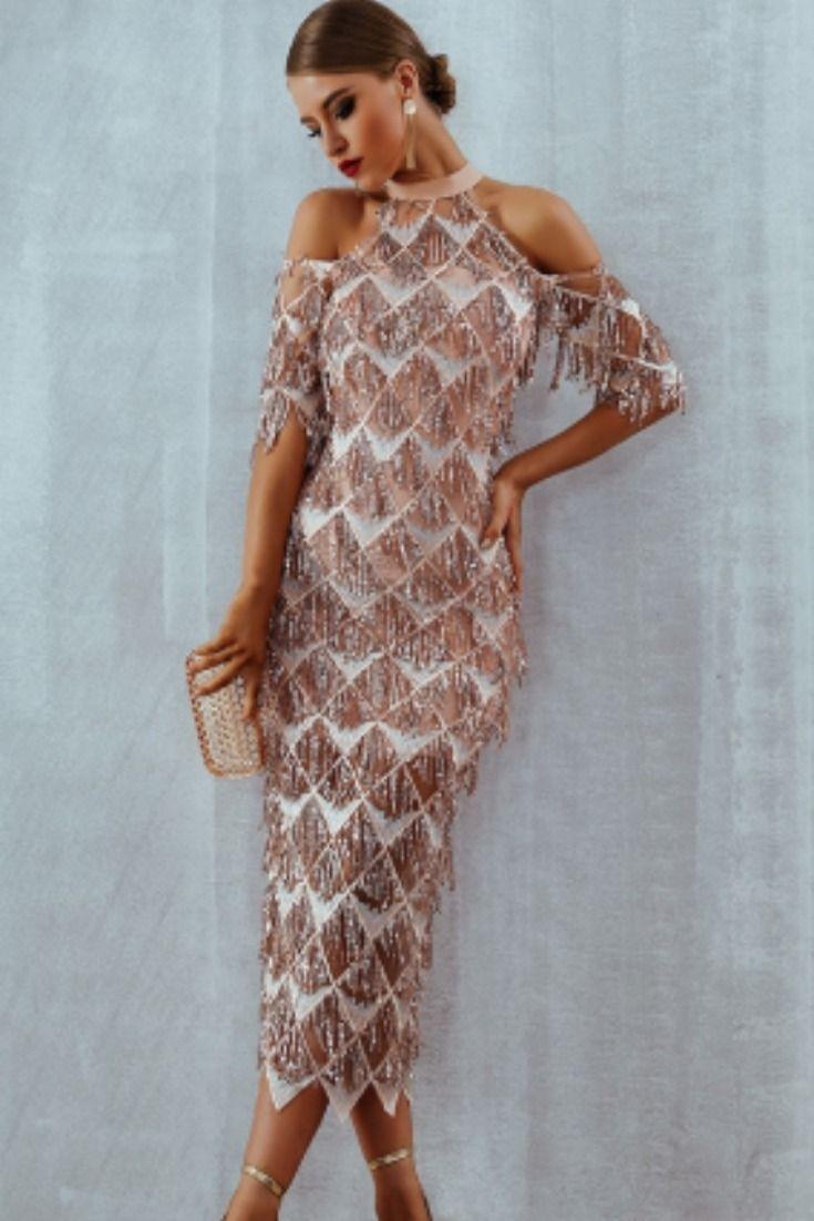 76992ca3adaff Adyce Elegant Sequins Evening Party Dress Vestidos Verano 2019 New ...