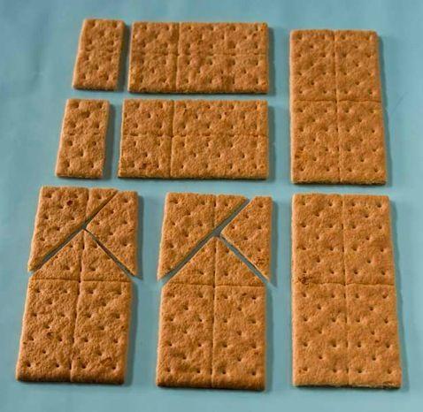 Cómo hacer una casita de galletas con hony bran o graham.