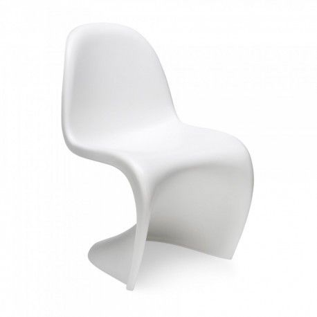 White Modern Chair inspired by Panton