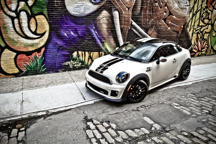 Mini Cooper Coupe…you will be mine.  This is the exact one I want!  I can't decide if the stripes are a bit much though.