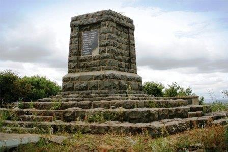 memorial at nearby Elandslaagte