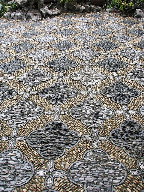 Detail Of Stone Mosaic Path At Dr. Sun Yat Sen Classical Chinese Garden,  Vancouver, B.