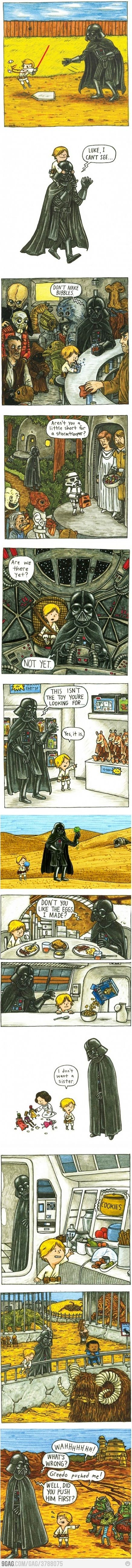 Darth Vader and Luke this warms your heart..