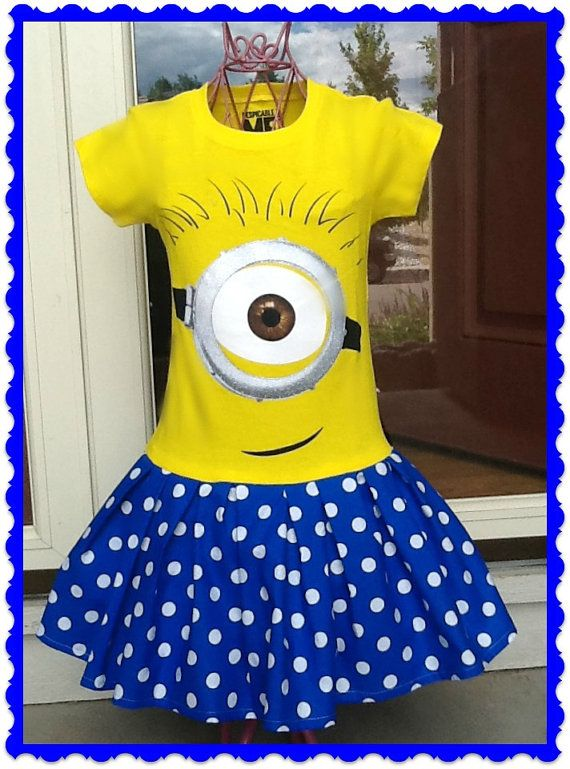 girls MINION Dress Dispicable Me 2 custom by BlossomBlueBoutique
