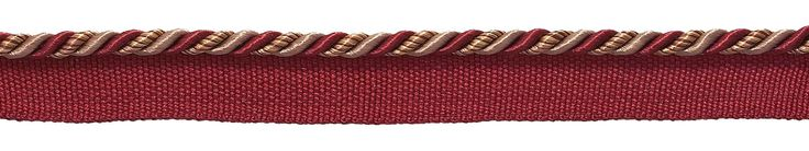 """Small Burgundy Taupe Baroque Collection 3/16"""" Cord with Lip Style# 0316BL Color: CRANBERRY HARVEST – 8612 (Sold by The Yard)"""