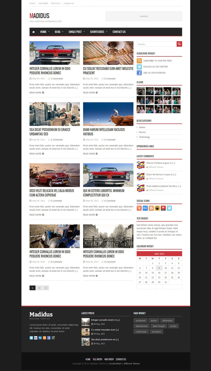 Madidus - Blog & Magazine Theme - News / Editorial Blog / Magazine  #wordpress #theme #website #template #responsive #design #webdesign #flat #flatdesign #metro #modern #magazine