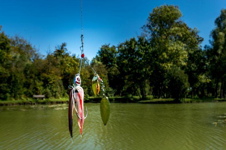 Leurres au Lac de Frace avant une partie de pêche
