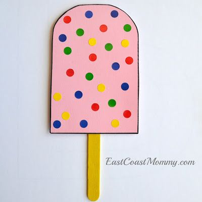 Adorable letter P crafts... including this polka dot popsicle.