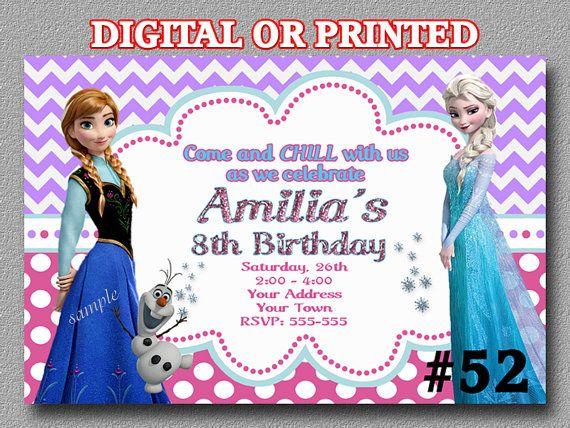 Disney Frozen Invitation Birthday Party  YOU by LetsPartyShoppe