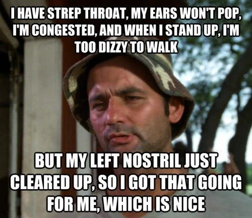 Finding the Silver Lining in Sickness, this is SO me!! curse you sinus infection!!!