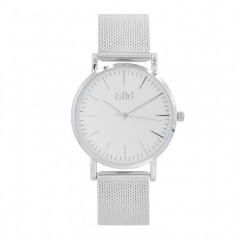 Koop dit IKKI Janet Silver Horloge JT-01 horloge online in onze webwinkel.                     Dit is een dames horloge met een quartz uurwerk.                             De kleur van de kast is zilver en de kleur van het uurwerk is zilver.                             De kast is gemaakt van rvs en de band van het horloge van rvs.                             Het uurwerk is analoog en er wordt gebruik gemaakt van mineraalglas.                                       Wij zijn offic...