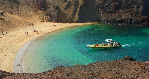 Playa de Papagayo on Lanzarote, Canary Islands