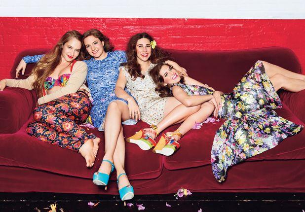 GIRLS: Jemima Kirke, Lena Dunham, Zosia Mamet and Allison Williams