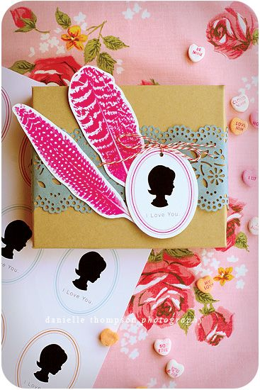 Packaging.Gift Wrapping, Gift Packaging, Diy Gift, Gift Wraps, Silhouettes Tags, Wraps Gift, Handmade Gift, Pretty Packaging, Wraps Ideas