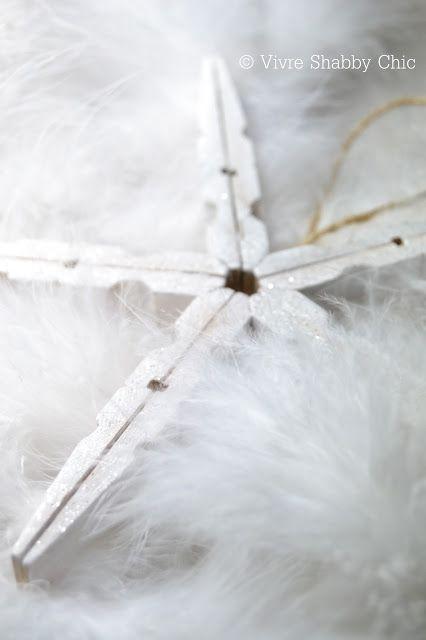 Tutorial DYI christmas star - christmas decor - decorazioni natalizie fai da te su www.vivreshabbychic.com
