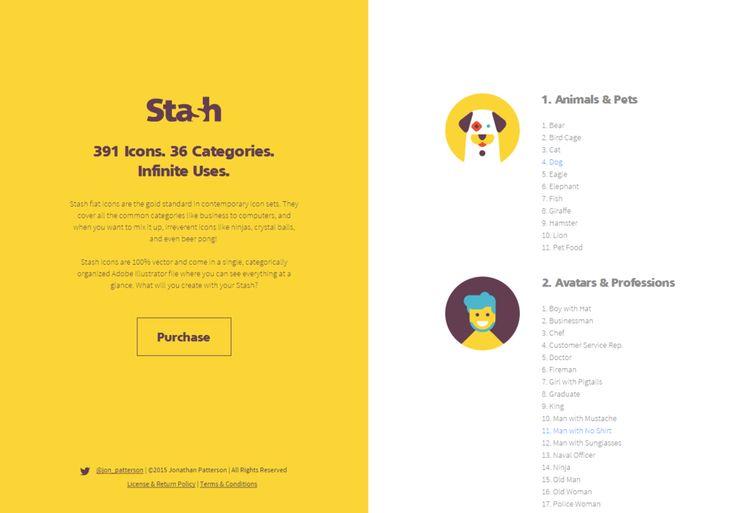Stash Flat Icons - http://t.co/dLs6w73lqZ - #WebDesign #Icons - @jon_patterson http://t.co/EKXFCbBoBa