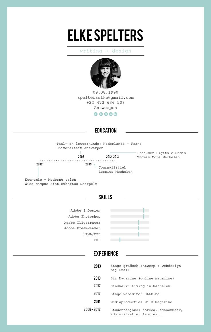 21 best Curriculum Vitae images on Pinterest | Resume templates ...