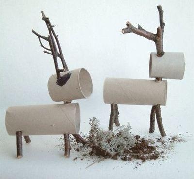 Reindeer toilet paper roll