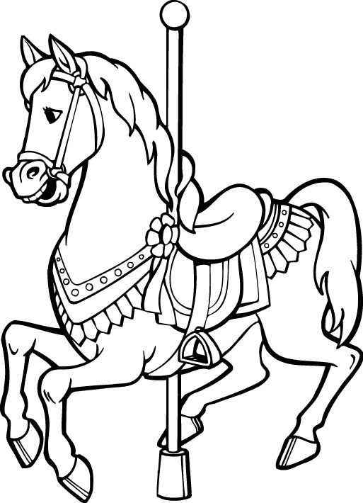 coloring pages of carousel zebra - photo#20