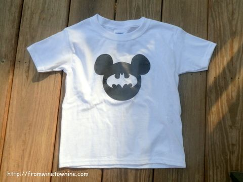 Batman Meets Mickey Mouse Diy Shirt Tutorial From From