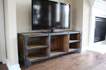 Modern Industrial - industrial - media storage - houston - Modern Industrial Furniture