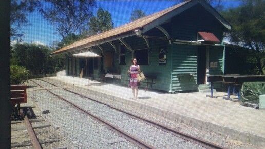 Train station for display only at old petrie town .perfect for photos .