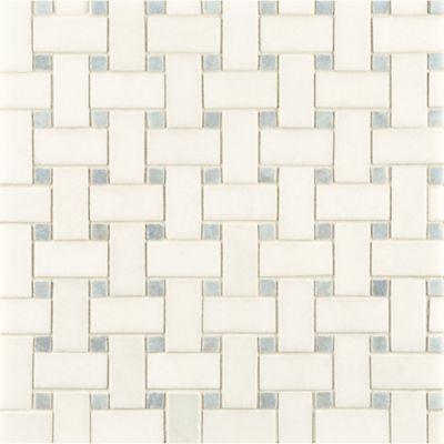 Blue Celeste Basketweave Stone Mosaic Ann Sacks Tile Traditional Bathroom Other Metro Rebekah Zaveloff