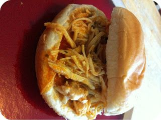 Easy crockpot recipes: Buffalo chicken sandwich crockpot recipe