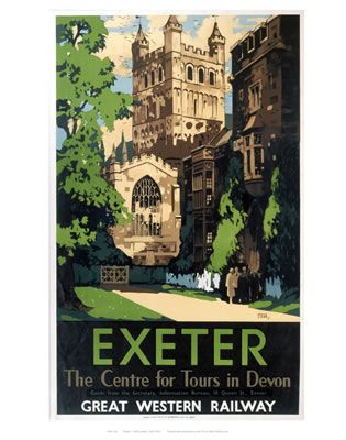Exeter the centre of tours in Devon
