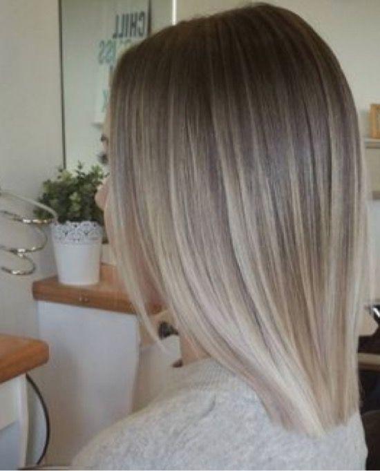 Silver Platinum Blonde Ombr 233 Dark Roots Ombre Hair