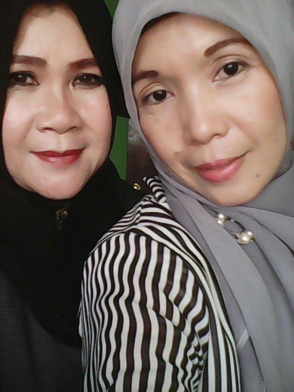 with my teacher