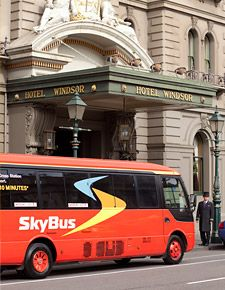 SkyBus is pretty much the only economical way into town from the airport. Just buy a ticket out the front of the airport.
