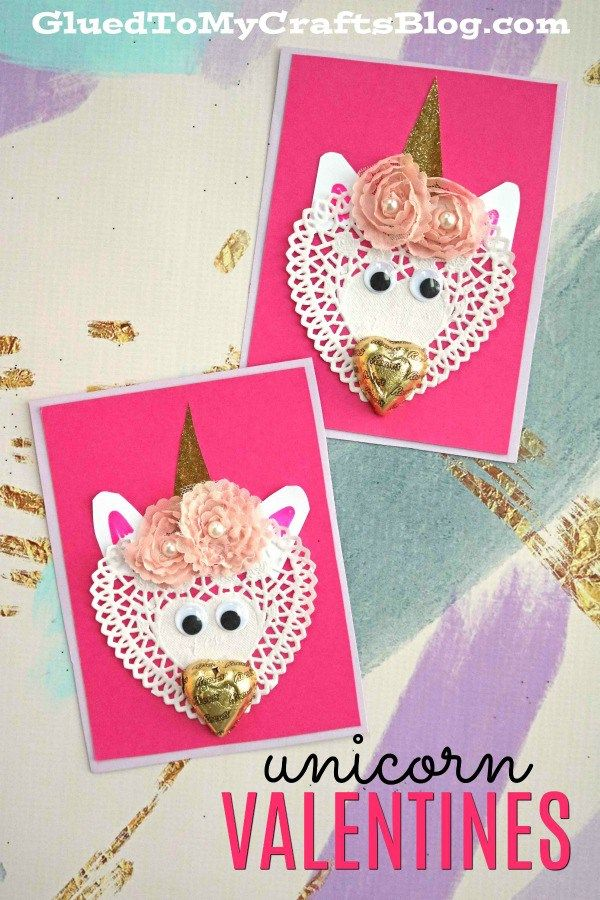 Diy Paper Doily Unicorn Valentines Glued To My Crafts