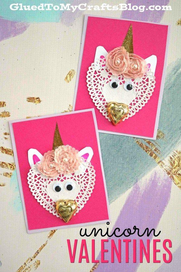 Diy Paper Doily Unicorn Valentines W Chocolate Noses Unicorn