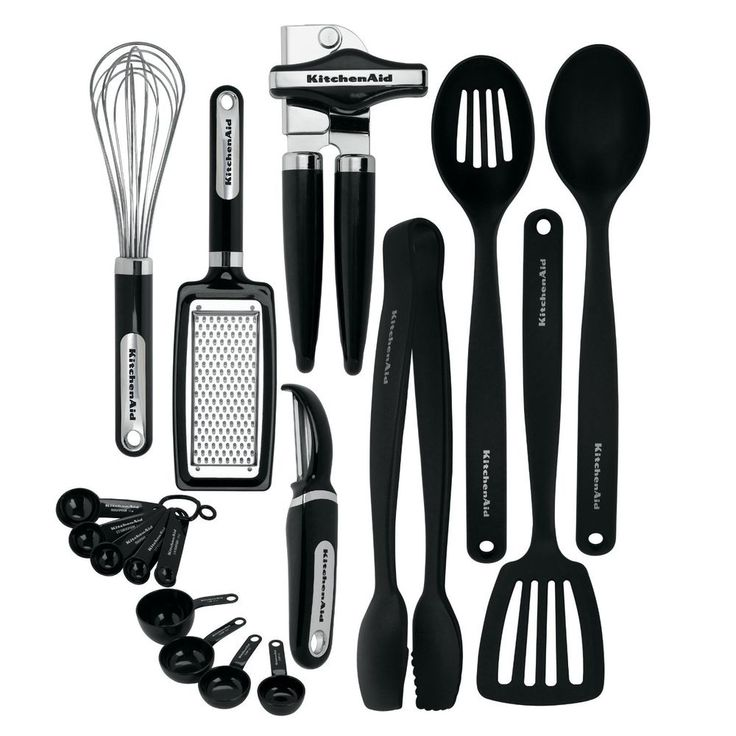 Classic 17 Piece Kitchen Utensil Tools and Gadget Set Plastic Stainless Cook New #KitchenAid