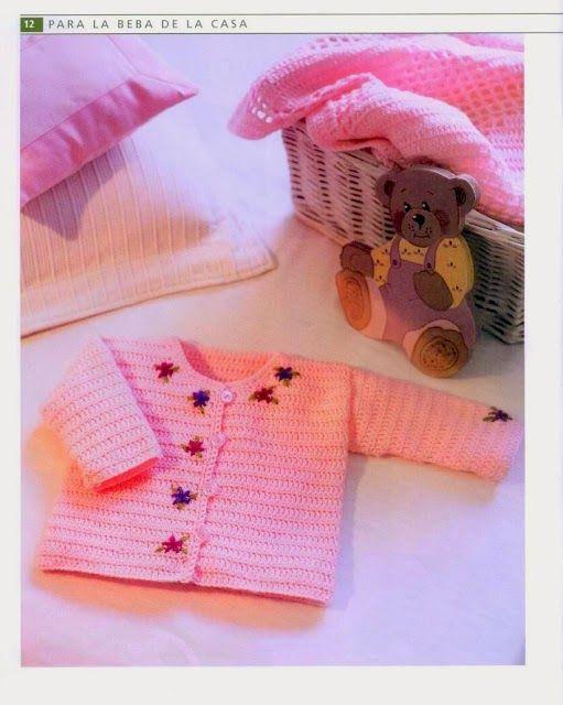 Grace y todo en Crochet: SAQUITO BORDADO PARA LA PRINCESA ...