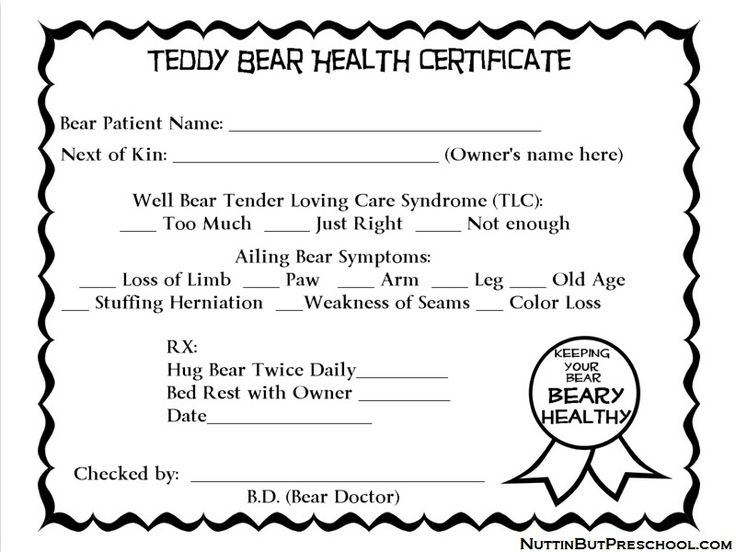bear worksheets | becomes the BD (Bear doctor) and gives the children's teddy bears ...
