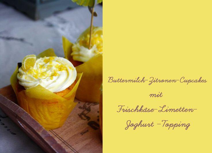 Zitronen Cupcakes // Lemon Cupcakes by http://babyrockmyday.com/zitronen-cupcakes/  Ganz ehrlich, zu Anfang dachte ich: oh man, da gibt es ja hunderte Rezepte. Aber einiges viel bei mir leider flach, erst wollte ich ein Eis machen, aber dank dem Eismaschinen-Fiasko ist mir dazu die Lust vergangen. Dann wollte ich etwas kochen, Zum Beispiel Zitronen-Huhn, aber A) war es zu heiss und B) wird das bei mir wenn es so fertig gekocht ist, unansehlich und alle Familienmitglieder müssen warten bis…
