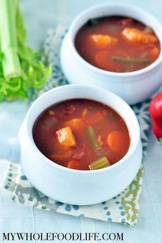 Chunky Vegetable Soup - My Whole Food Life