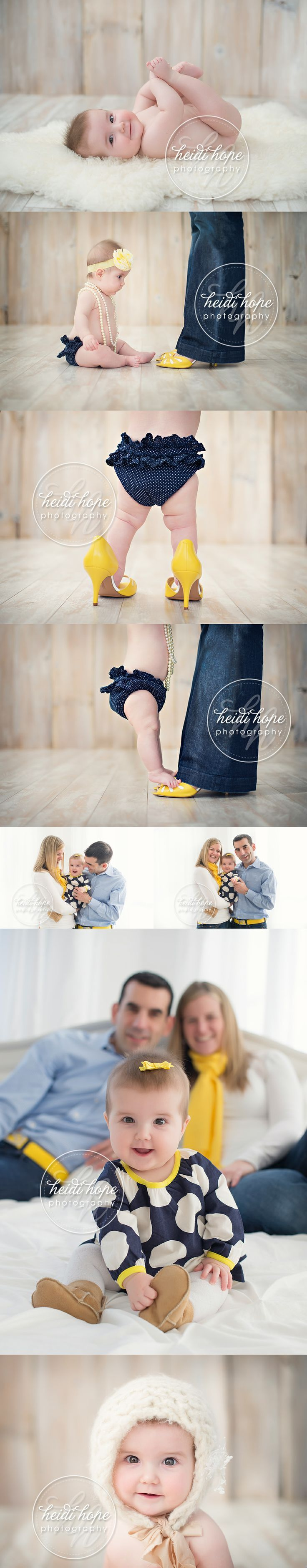 6 month old baby H and family visit the   studio for a Pinterest worthy baby portrait session! - Heidi Hope   Photography