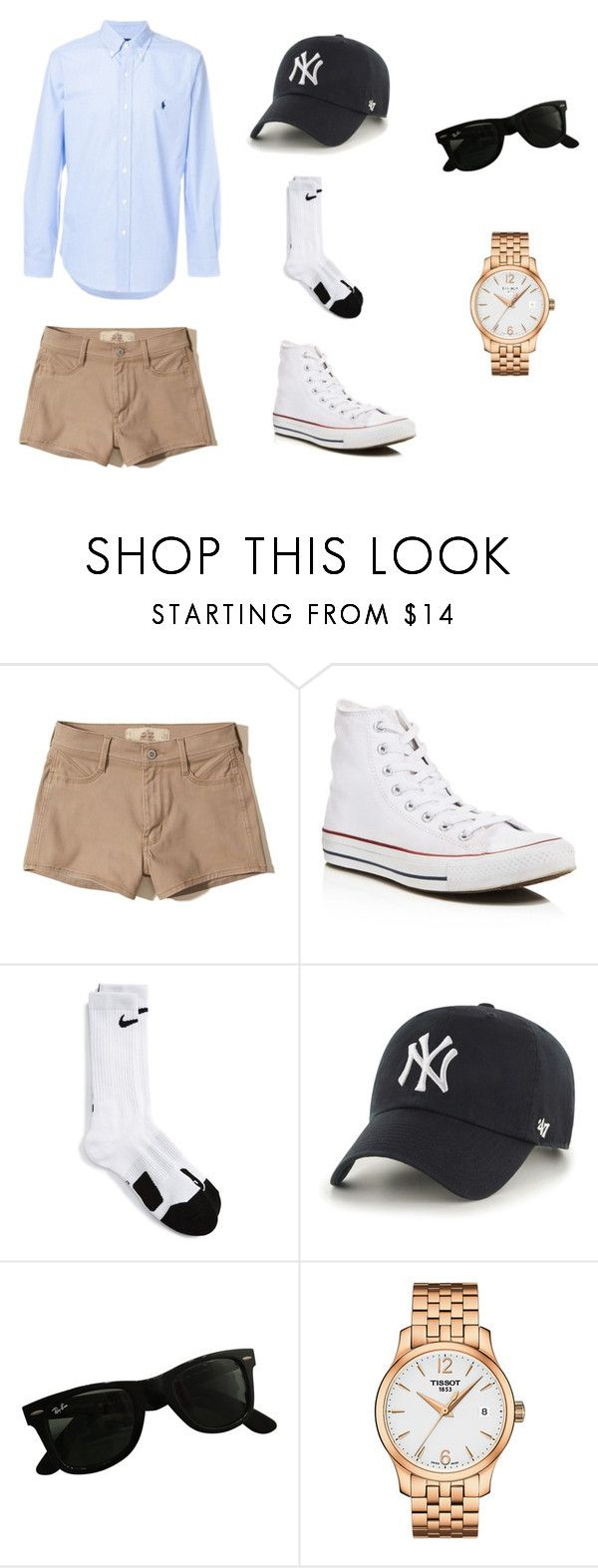"""""""Frat Boy DIY Costume"""" by valeriagaither on Polyvore featuring Hollister Co., Converse, NIKE, '47 Brand, Ray-Ban, Tissot and Ralph Lauren Blue Label"""