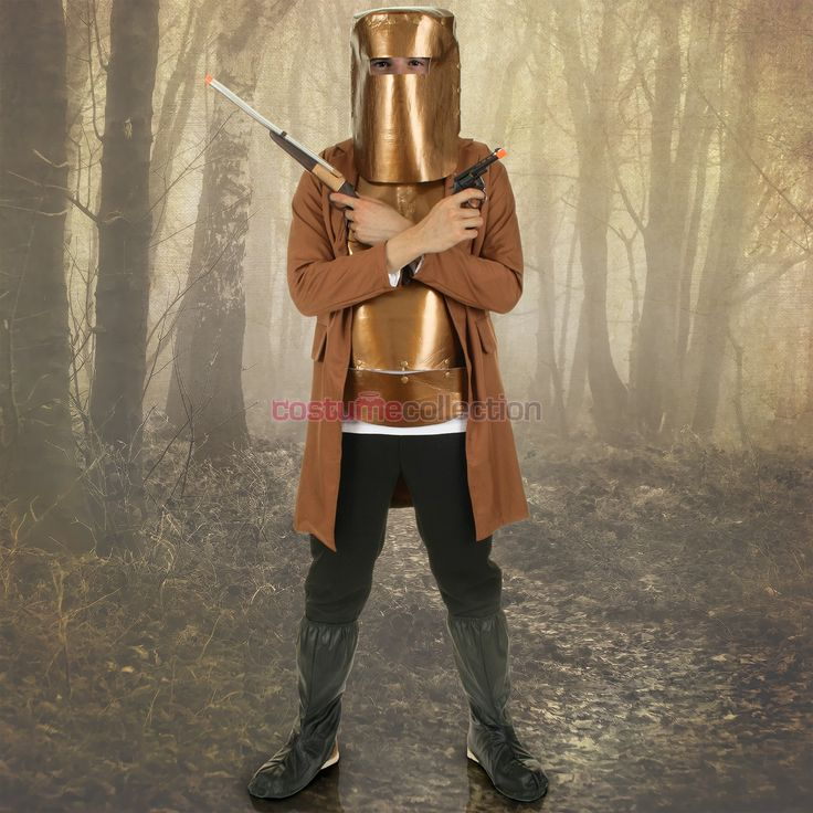Ned Kelly Armour Mens Costume & Helmet