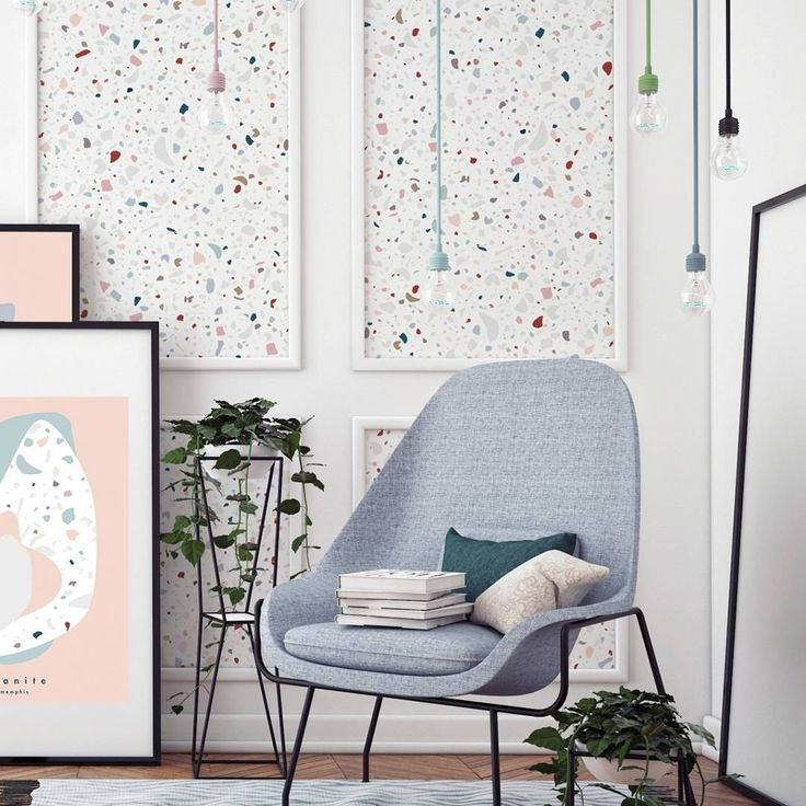 Add a touch of colour to your interiors with the beautiful brand papermint and their amazing wallpaper terrazzo granite flamingoes the choice is all