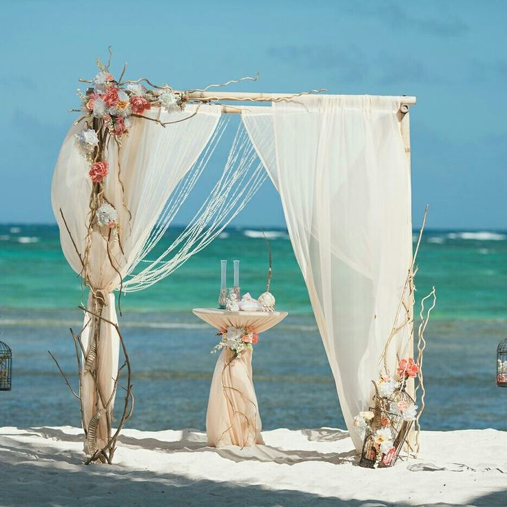 Wedding on the beach in Dominican Republic. Natural style.