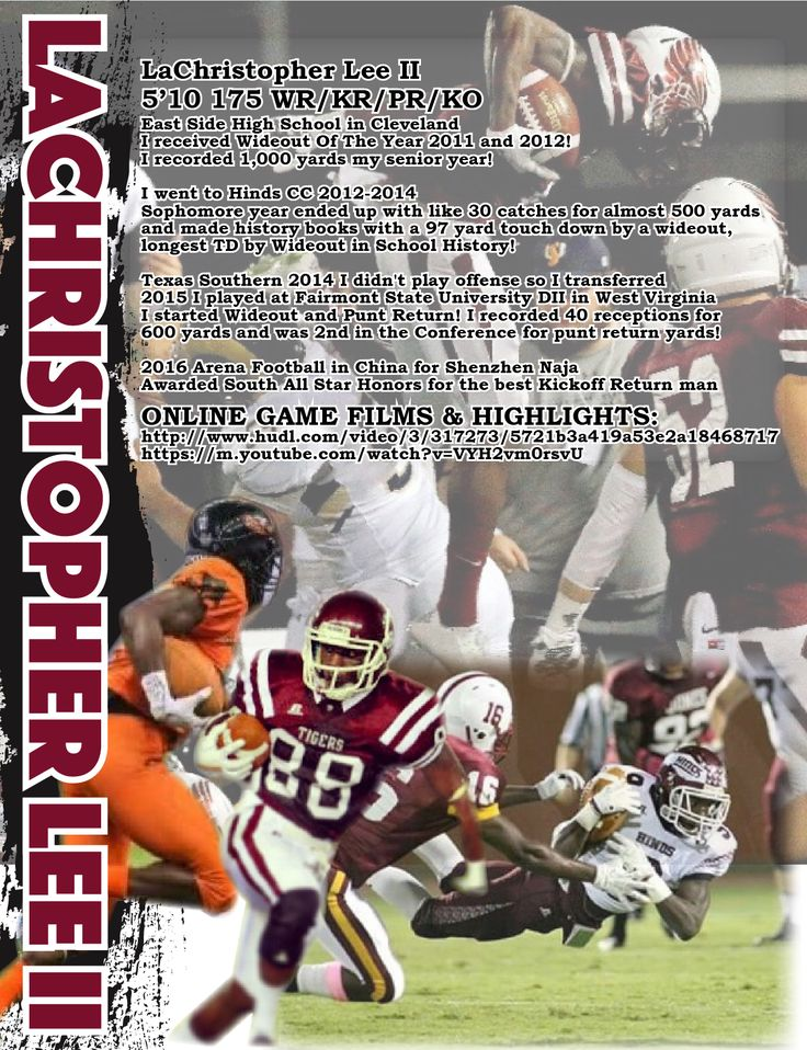 110 best Sports Resumes\/Recruiting Flyers images on Pinterest - college football coach sample resume