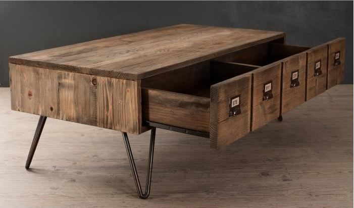 Saragosse Table Basse Style Industriel En Pin Et Metal Verni Table Basse Cdiscount Table Basse Style Industriel Table Basse Et Cdiscount Table Basse