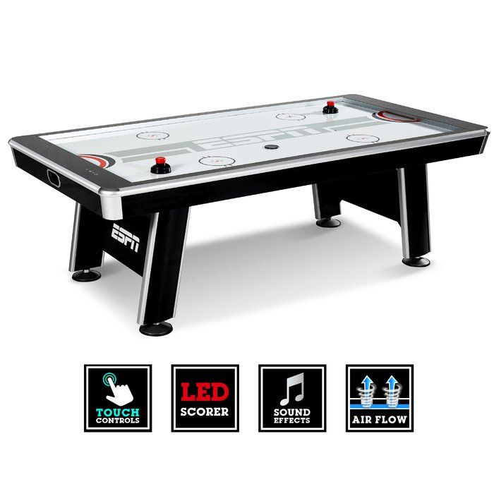 96 4 Player Air Hockey Table With Digital Scoreboard Air Hockey Air Hockey Table Intense Games