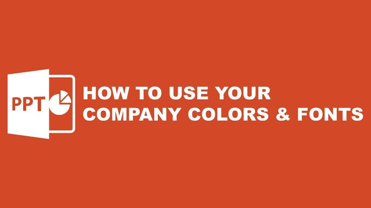 Tutorial Powerpoint Template : How to Use Your Own Company Color & Font
