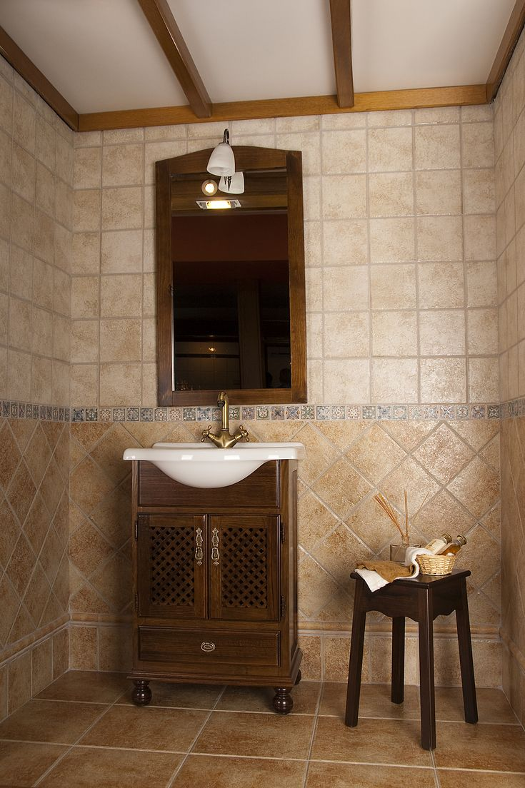 Ba o mobiliario griferia ceramica 1 ba os pavimarsa for Banos con ceramica rustica